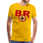 BATON ROUGE REDSTICKS SPECIALITY MEN'S PREMIUM TEE - sun yellow