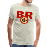 BATON ROUGE REDSTICKS SPECIALITY MEN'S PREMIUM TEE - heather oatmeal