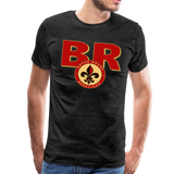 BATON ROUGE REDSTICKS SPECIALITY MEN'S PREMIUM TEE - charcoal gray