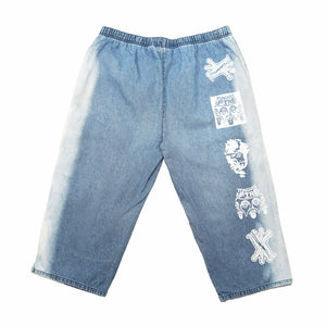 CROPPED DENIM JOGGERS