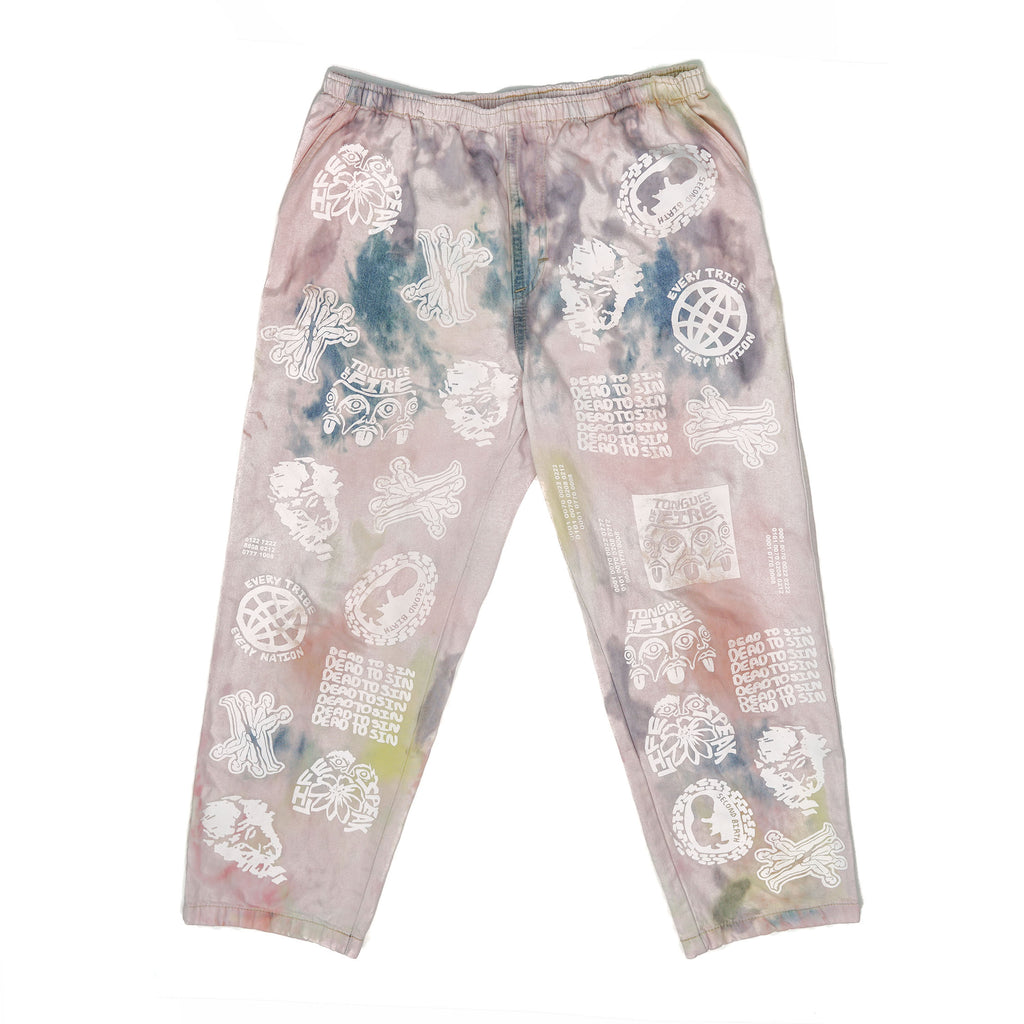 DECAYED PINK DENIM JOGGERS