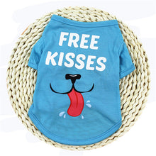 Load image into Gallery viewer, Cute Printed Summer Pets tshirt Puppy Dog Clothes Pet Cat Vest Cotton T Shirt Pug Apparel Costumes Dog Clothes for Small Dogs