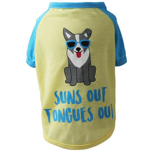 Cute Printed Summer Pets tshirt Puppy Dog Clothes Pet Cat Vest Cotton T Shirt Pug Apparel Costumes Dog Clothes for Small Dogs