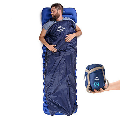 Naturehike Mini-Ultralight Sleeping Bag Outdoor Rectangular Envelope / Rectangular Bag 15 °C Single T / C Cotton Waterproof Portable Mini Breathable Ultra Light (UL) Squeezing 205*85 cm Spring Summer