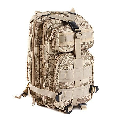 Commuter Backpack 25 L - Multifunctional Waterproof Wearable Shockproof Outdoor Camping / Hiking Leisure Sports Traveling Camouflage Brown