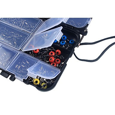 176 pcs Fishing Tackle Box Fishing Snaps & Swivels Fishing UV Soft Glow Beads Fishing Phosphorescent Beads Plastic Carbon Steel Steel Stainless Jigging Sea Fishing Fly Fishing Bait Casting Fishing