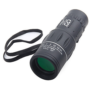 SRATE 16 X 52 mm Monocular High Definition Portable Night Vision in Low Light Fully Coated BAK4 Camping / Hiking Hunting Traveling Plastic Rubber Aluminium Alloy