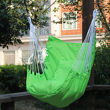 Hammock Chair Outdoor Lightweight Breathability Folding Terylene for 1 person Blue Green Red