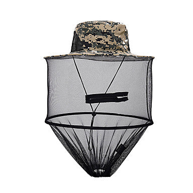Unisex Hat Summer Nylon / Tulle Sun Shades / Anti-Mosquito / UV resistant Camouflage