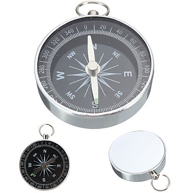 Compasses Directional Multi Function Aluminium Alloy Hiking Camping Outdoor Travel Black