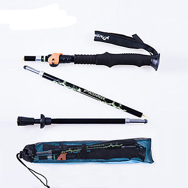 5 Sections Nordic Walking Poles Multifunction Walking Poles Trekking Pole Accessories 135cm Damping Multi-function Foldable Tungsten Aluminum Alloy 6061 Camping / Hiking Camping Multifunction