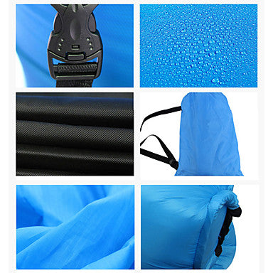 Fonoun Air Sofa Inflatable Sofa Sleep lounger Air Bed Outdoor Camping Waterproof Portable Fast Inflatable Polyester Taffeta Beach Camping Outdoor for 1 person
