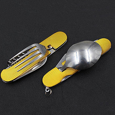 Camping Eating Utensil Set Camping Spork Collapsible for Stainless Steel Outdoor Camping Outdoor Picnic