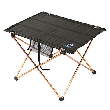 Camping Table Portable Lightweight Foldable Oxford Aluminium for Fishing Hiking Beach Camping Spring Summer Black