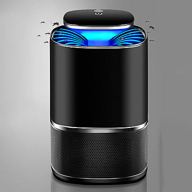 Intelligent Light Mosquito Killer Lamps LED Black Light with Battery and USB Cable Portable Intelligent Light Sense 360 ° Mosquito Trap Vortex Airflow Camping Hiking Caving Fishing White Black