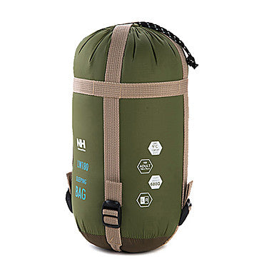 Naturehike Mini-Ultralight Sleeping Bag Outdoor Envelope / Rectangular Bag 15 °C Single Imitation Silk Cotton Portable Mini Warm Ultra Light (UL) 190*75 cm Spring Summer for Hiking Camping / 700