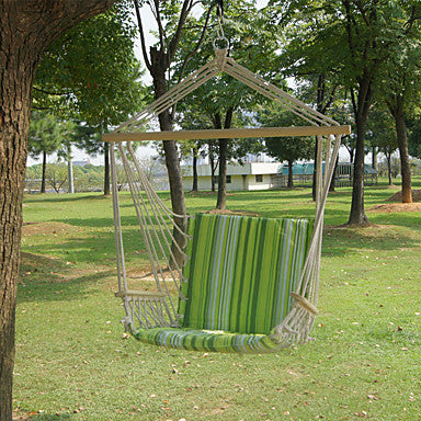 Hammock Chair Outdoor Flexible Folding Canvas leather for Camping Travel Mineral Green 200*100 cm