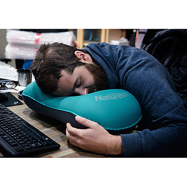 Naturehike Ultralight Inflating Travel Pillow / Camping Pillow Outdoor Camping Portable, Foldable TPU / Polyester Camping / Hiking, Traveling, Outdoor for Neck & Lumbar Support 1 person