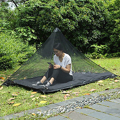 Mosquito Net Outdoor Lightweight Breathability Anti-Mosquito Polyster for Fishing Hiking Camping Green Black
