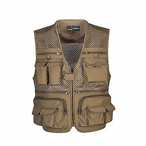 Men's Fishing Vest Vest / Gilet Breathability YKK Zipper Outdoor Fishing Hunting / Mesh