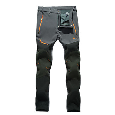 Men's Hiking Pants Softshell Pants Outdoor Waterproof Thermal / Warm Windproof Winter Fleece Pants / Trousers Camping / Hiking Hunting Climbing Black Dark Grey Army Green XL XXL XXXL / Breathable
