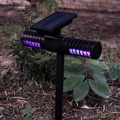 Solar Mosquito Killer Lamp Outdoor Waterproof Villa Yard Garden LED Light Lawn Camping Lamp Large Bug Zapper Light Whole Night