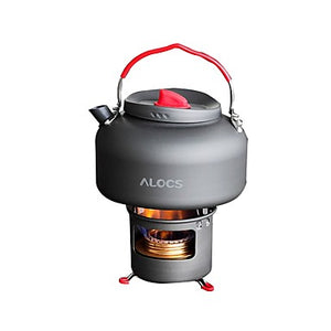 ALOCS Stands Camping Kettle Camping Stove Coffee and Tea for Copper Hard Alumina Outdoor Camping / Hiking Picnic