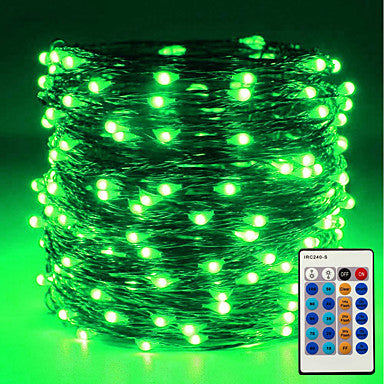 ZDM 10m/33ft 100 LEDs Dimmable with Remote Control Waterproof LED String Lights for DIY Bedroom Patio Garden Gate Yard Party Wedding witht EU/US 12V1A Power
