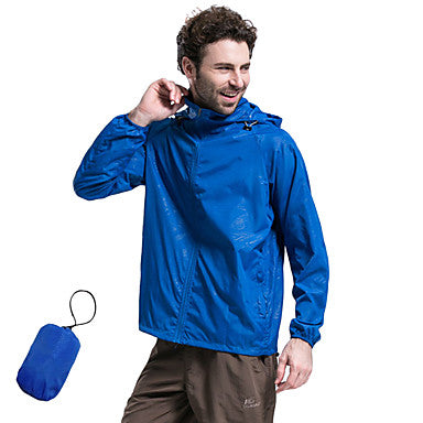 Men's Women's Hiking Raincoat Hiking Windbreaker Outdoor Lightweight Windproof UV Resistant Breathable Autumn / Fall Spring Summer Jacket Top Camping / Hiking Fishing Climbing Pink Violet Grey XL XXL