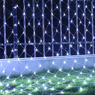 1 set LED String Light Lantern 6x4 Fishing Net Light Grass Light Spider Light Starry Sky Waterproof Light 8 Function Flashing 220V