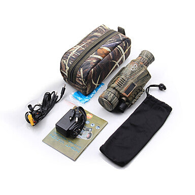 5 X 40 mm Night Vision Monocular Infrared Portable Rechargeable Multi-functional with Recording Image and Video Function Handheld Design BAK4 Hunting Climbing Military Night Vision