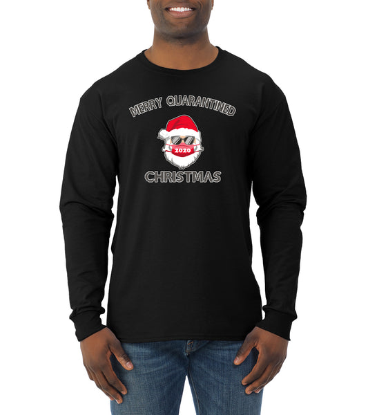 Merry Quarantined Christmas 2020 Christmas Mens Long Sleeve Shirt