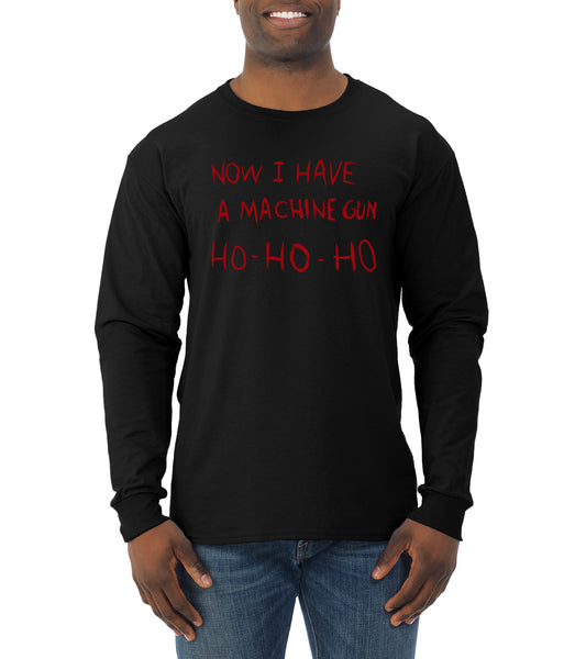 Die Hard Now I Have a Machine Gun Ho ho ho Christmas Mens Long Sleeve Shirt