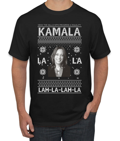 Kamala La La Lah-La-Lah-La Harris 2020 Ugly Christmas Sweater Men's Graphic T-Shirt