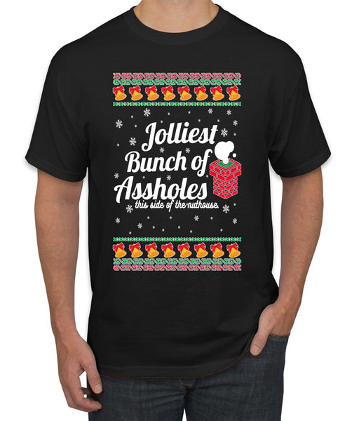Jolliest Bunch of Assholes Xmas Movie Ugly Christmas Sweater Men's Graphic T-Shirt