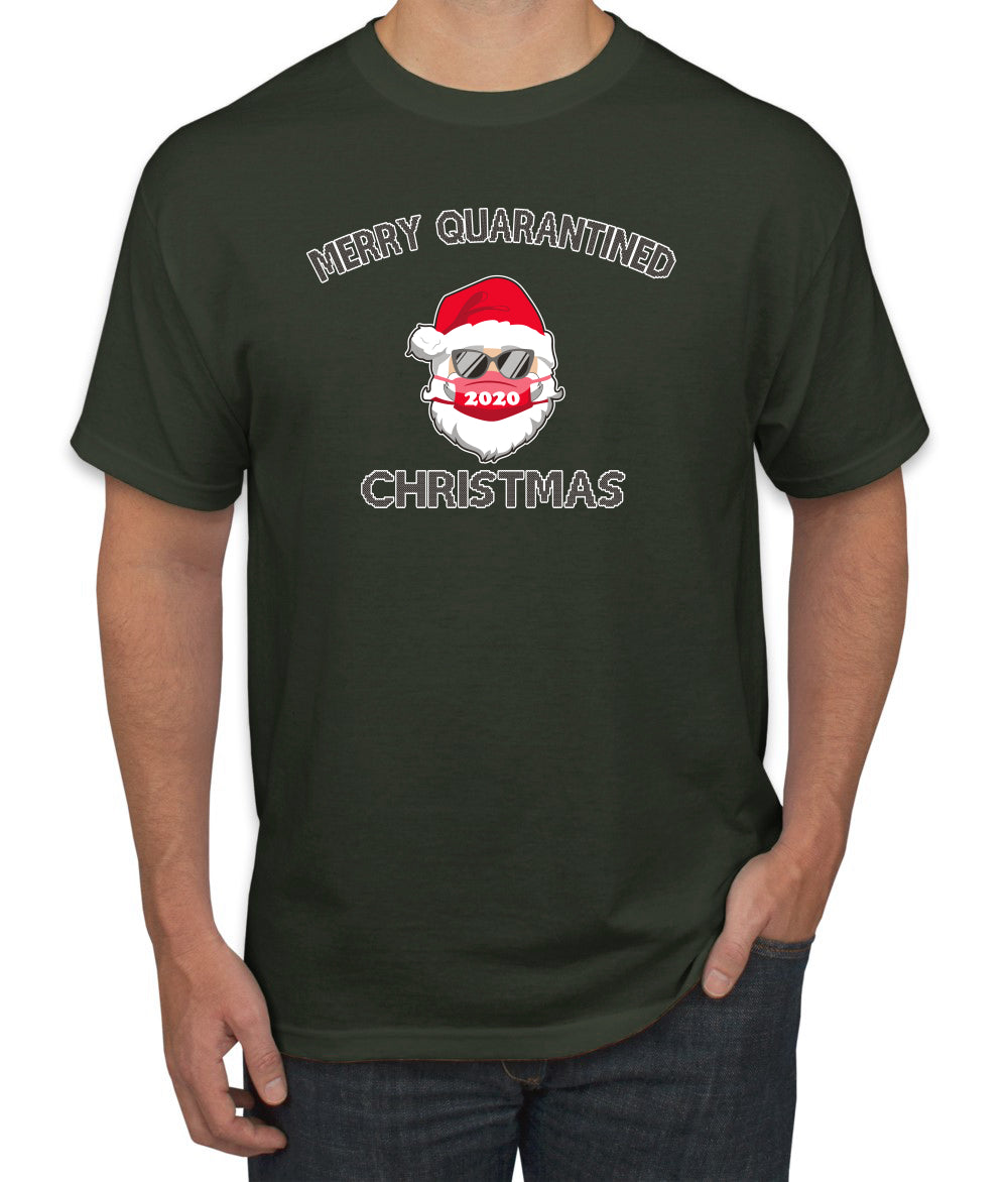 Merry Quarantined Christmas 2020 Christmas Men's Graphic T-Shirt