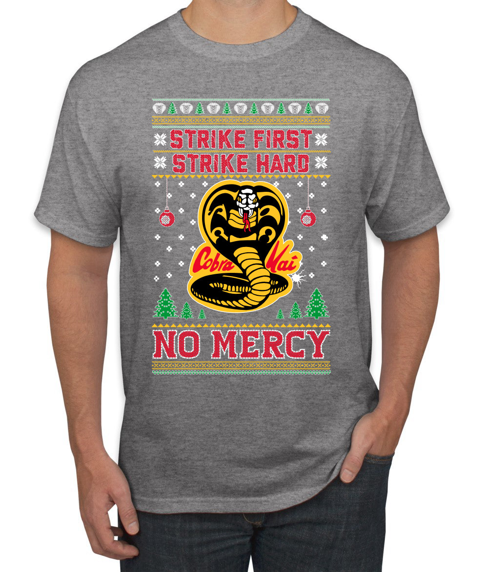 Strike First Strike Hard No Mercy Xmas Ugly Christmas Sweater Men's Graphic T-Shirt