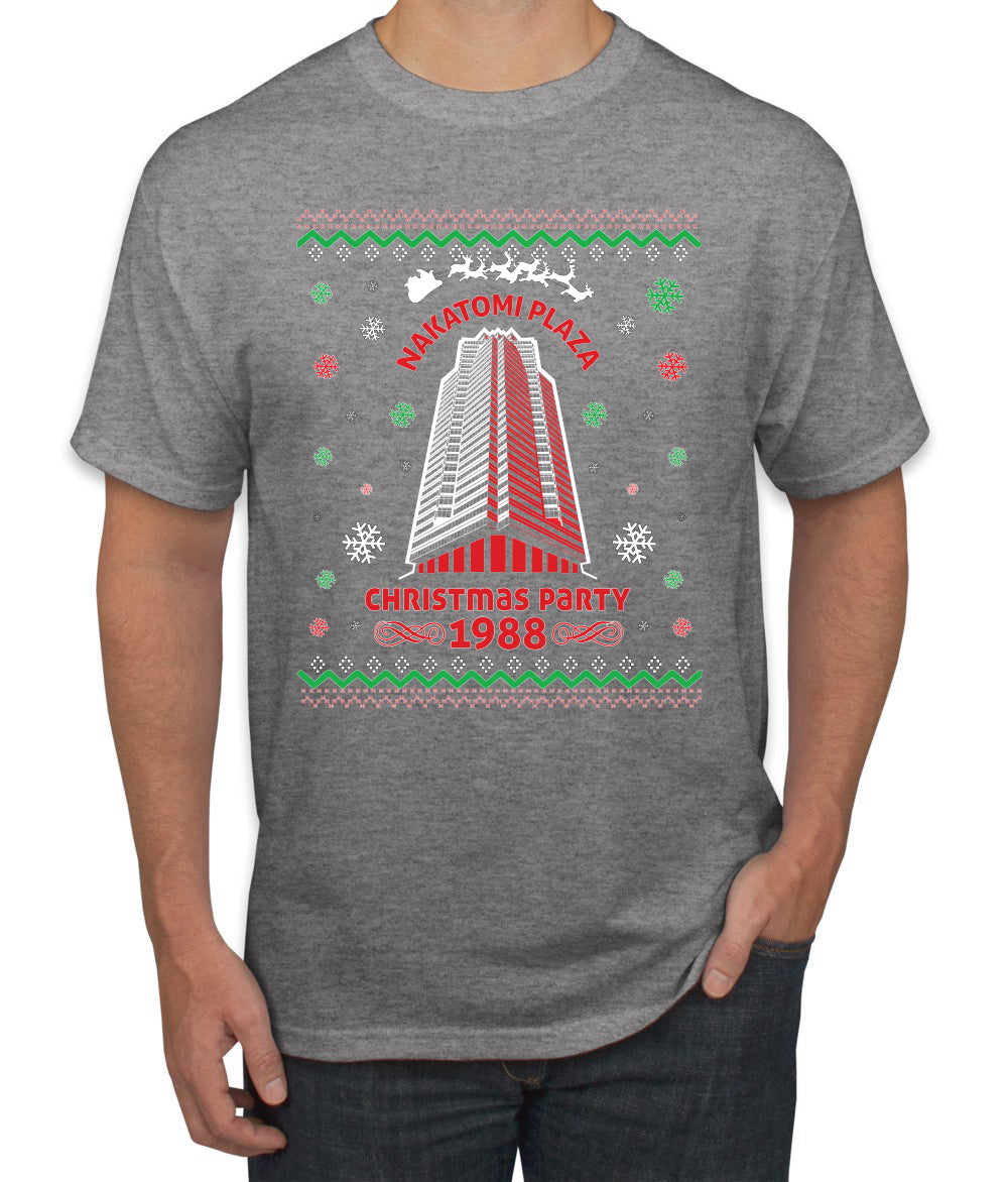 Nakatomi Plaza Christmas Party 1988 Ugly Christmas Sweater Men's Graphic T-Shirt