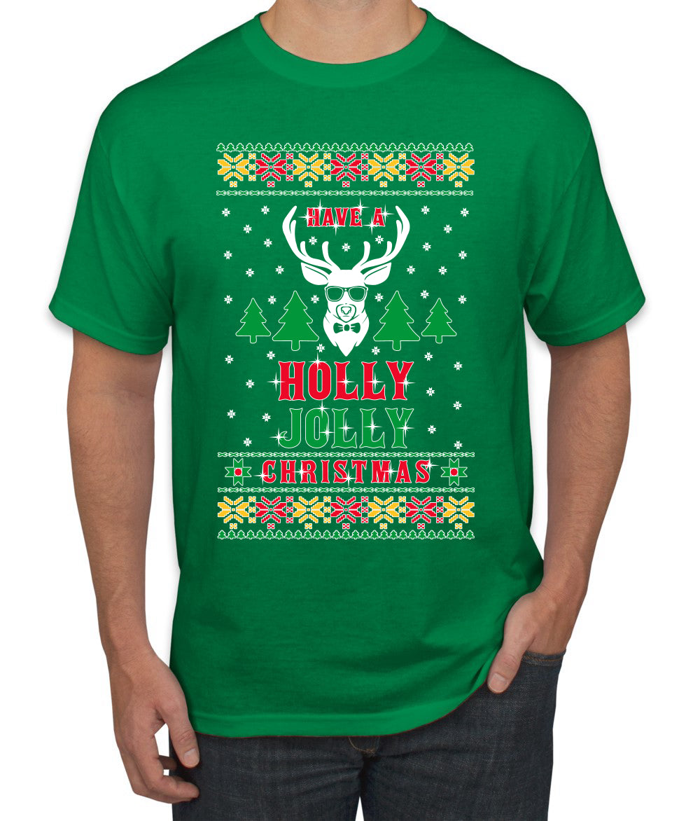 Have A Holly Jolly Christmas Ugly Christmas Sweater Men's Graphic T-Shirt