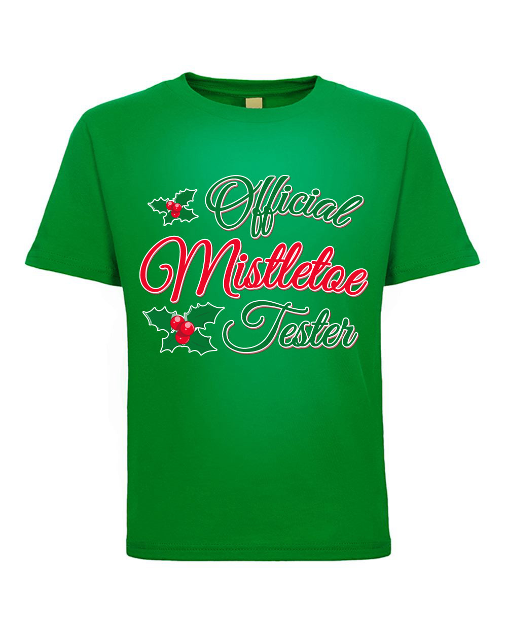 Official Mistletoe Tester Christmas Toddler Crew Graphic T-Shirt