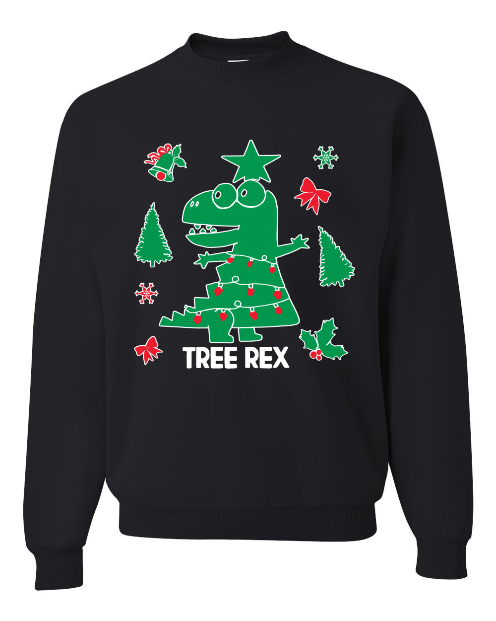 Christmas Trex Tree Rex Ugly Christmas Sweater Christmas Unisex Crewneck Graphic Sweatshirt