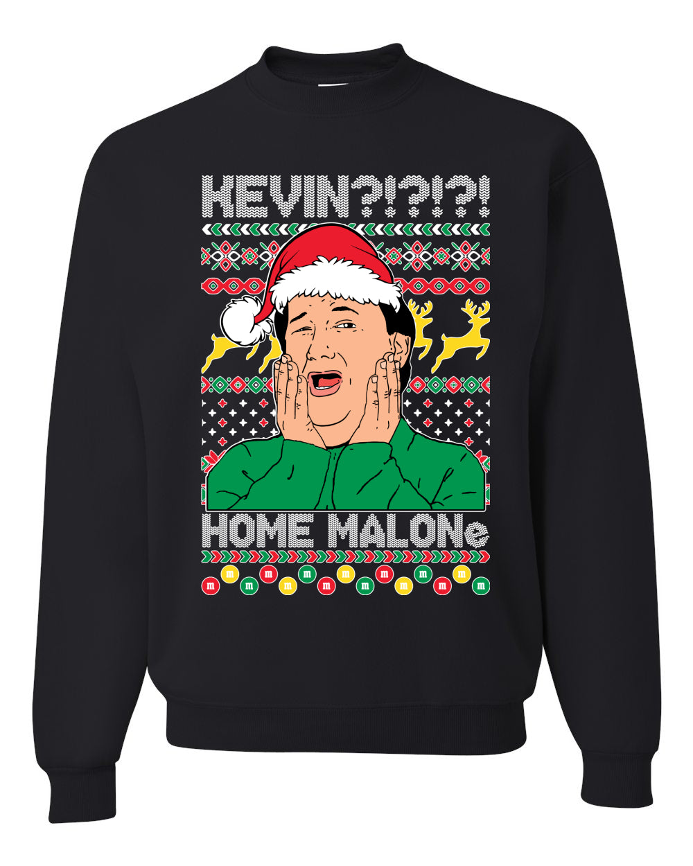 Kevin Home Malone Office Tv Xmas Christmas Unisex Crewneck Graphic Sweatshirt