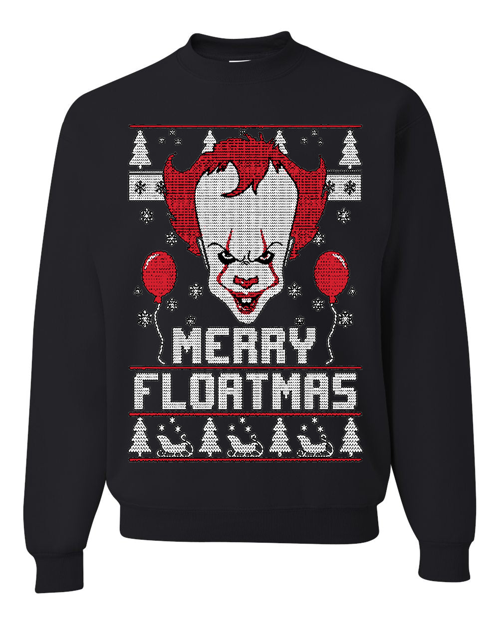 Merry Floatmas | IT Clown Christmas Unisex Crewneck Graphic Sweatshirt