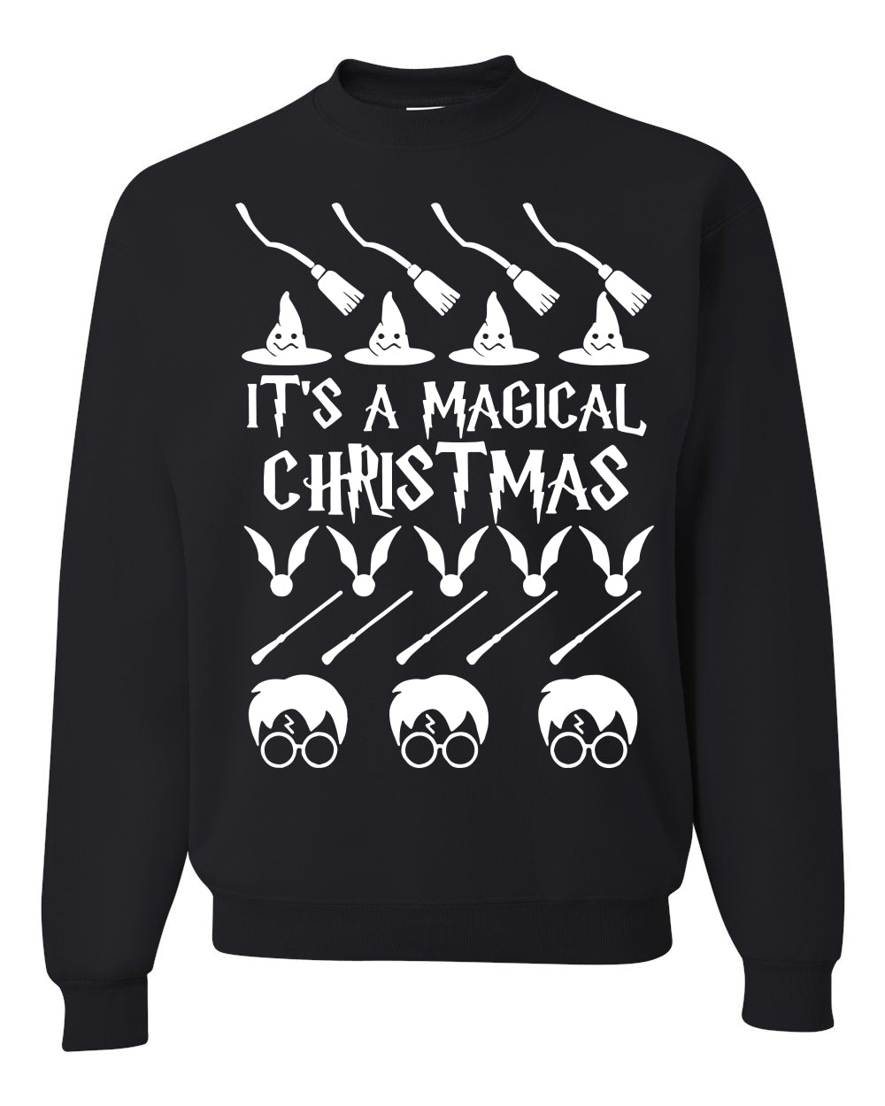 It's A Magical Christmas Wizard Christmas Unisex Crewneck Graphic Sweatshirt