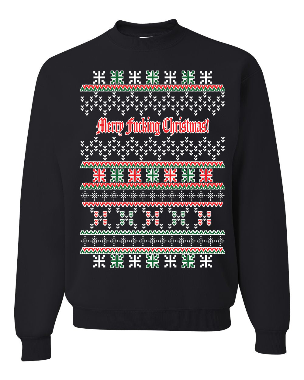 Merry Fucking Christmas Unisex Crewneck Graphic Sweatshirt