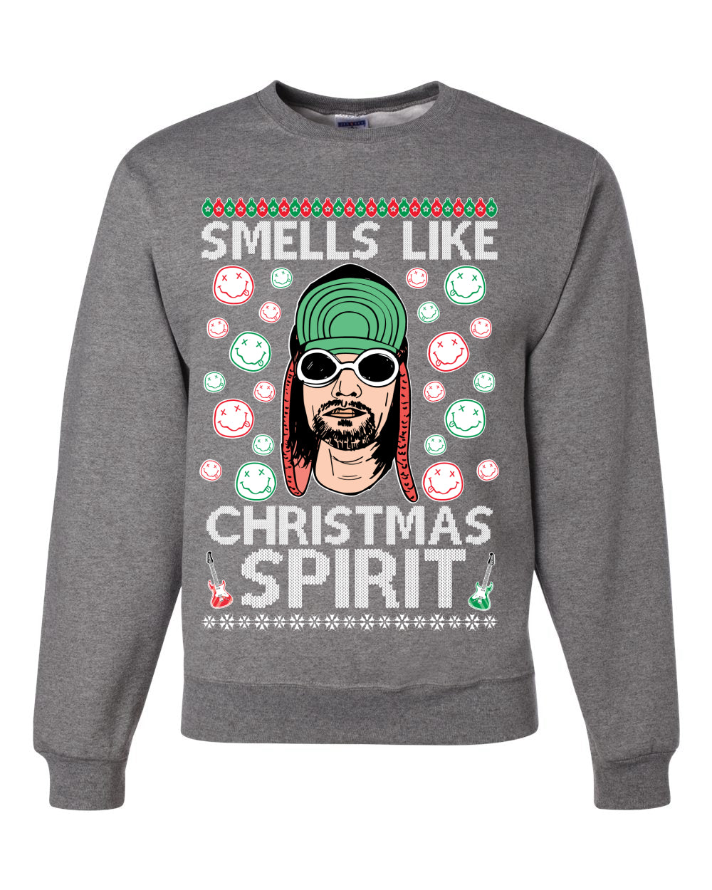 Smells Like Christmas Spirit Ugly Christmas Sweater Christmas Unisex Crewneck Graphic Sweatshirt