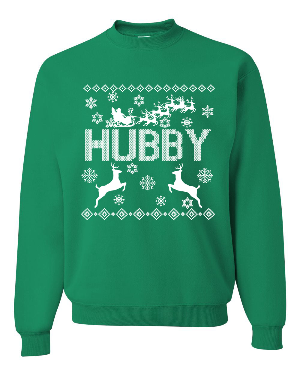 Christmas Hubby Love Ugly Christmas Sweater Christmas Unisex Crewneck Graphic Sweatshirt