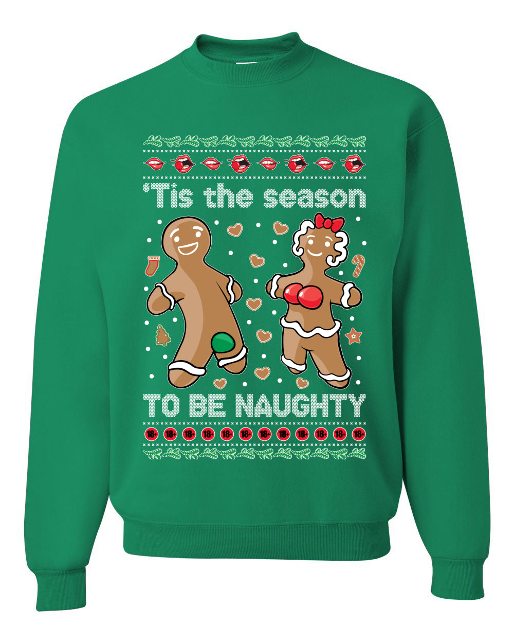 Tis Season to get Naughty Xmas Ugly Christmas Sweater Christmas Unisex Crewneck Graphic Sweatshirt