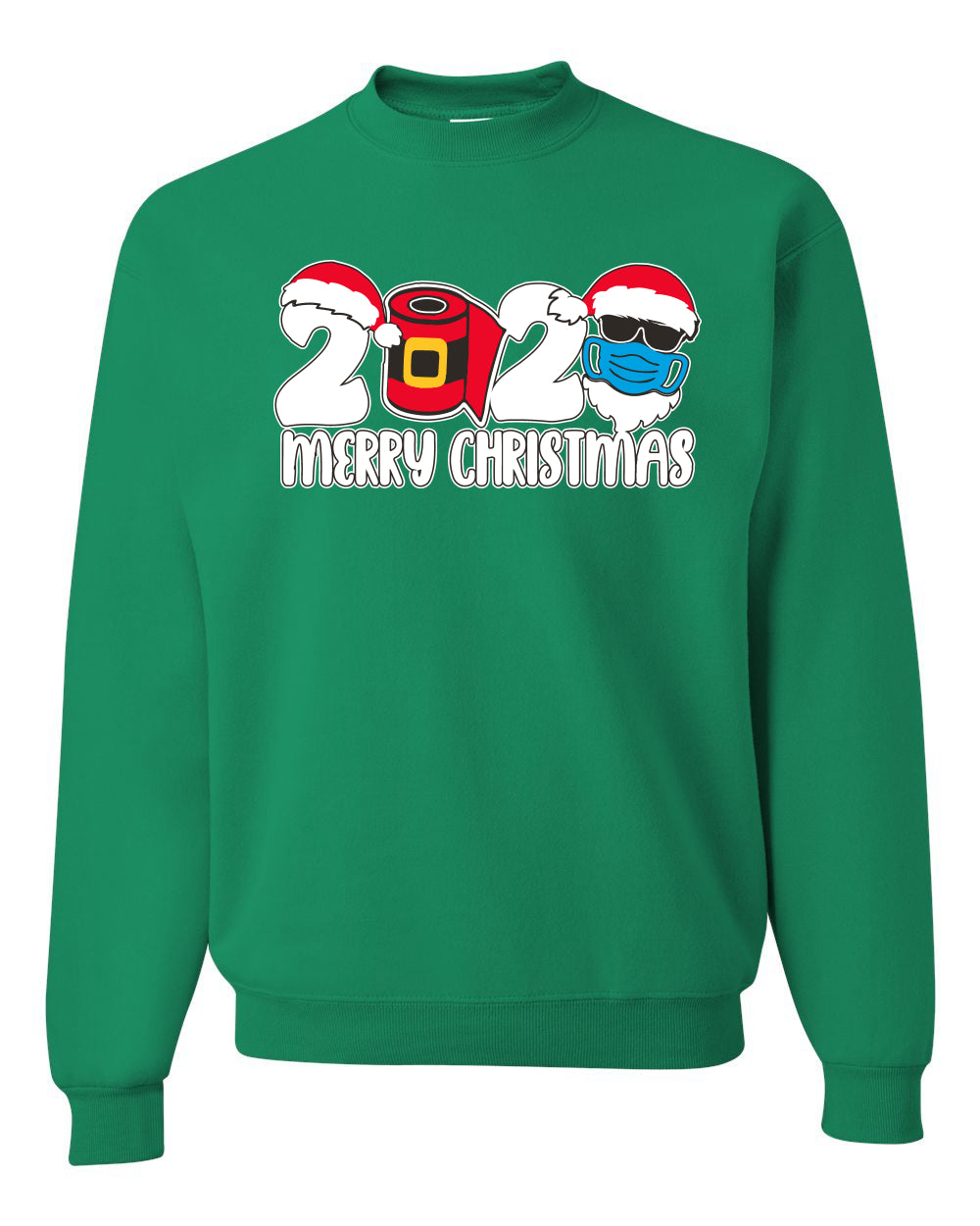2020 Merry Christmas Pandemic Christmas Unisex Crewneck Graphic Sweatshirt