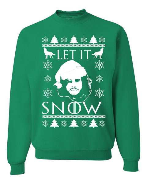 Let It Snow Jon Snow GoT Unisex Crewneck Graphic Sweatshirt